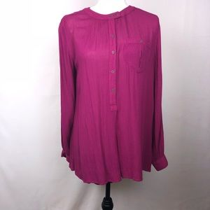 Free People, Wine Colored, Blouse, Size S/P